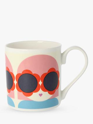 Orla Kiely Sunglasses Mug, 300ml, Pink/Multi
