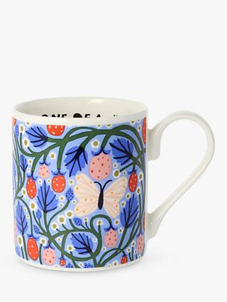 Monika Forsberg Blue Hour Butterfly Mug, 300ml, Blue/Multi