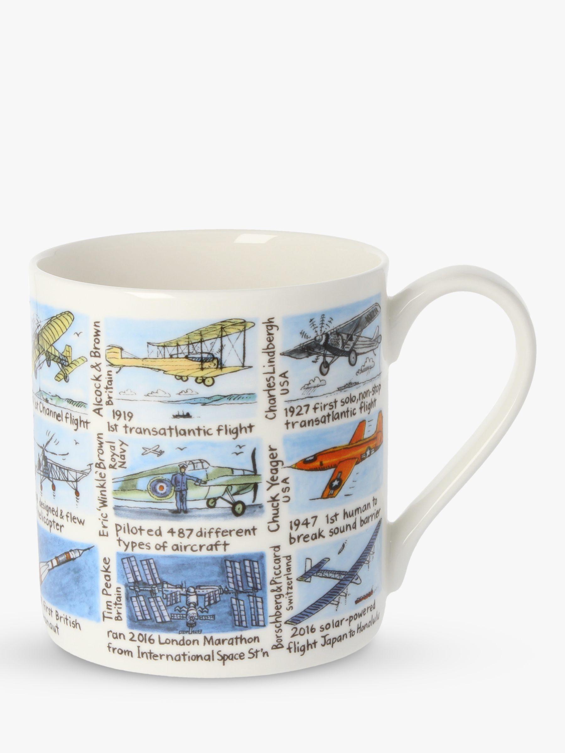 McLaggan Smith McLaggan Smith History Of Flight Mug, 350ml, Multi