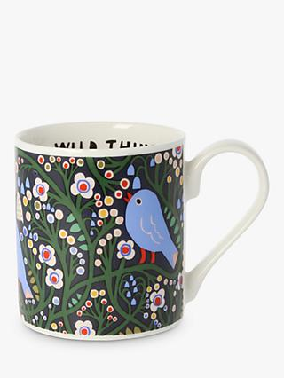 Monika Forsberg Birds At Dusk Mug, 300ml, Blue/Multi