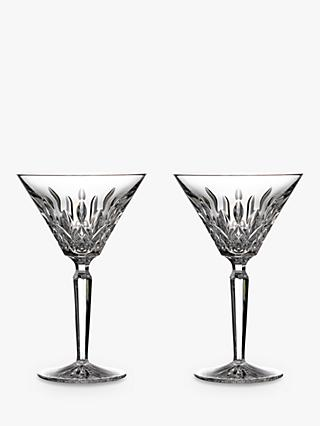 Waterford Crystal Cut Glass Lismore Cocktail Glasses, 125ml, Set of 2, Clear