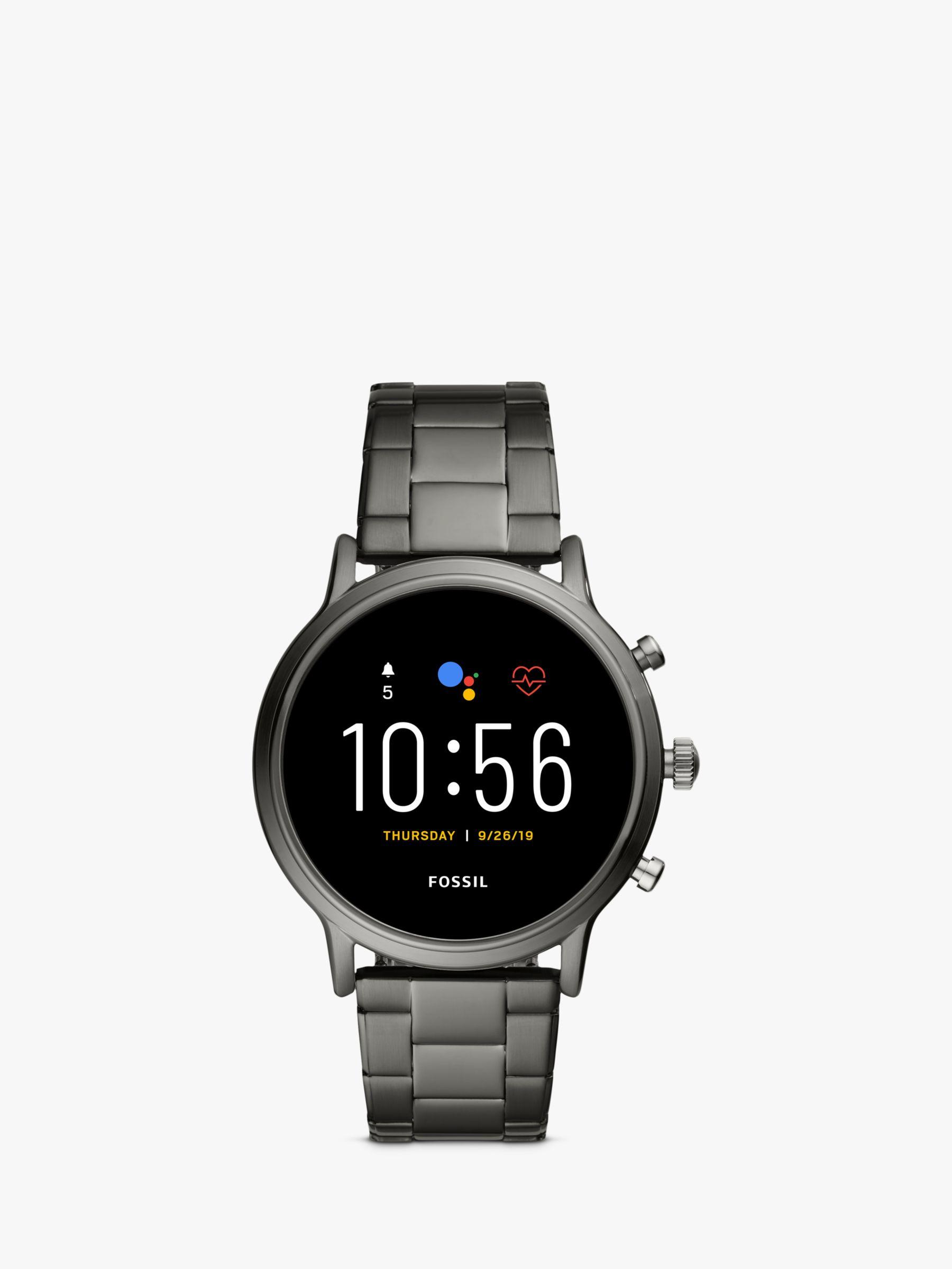 Fossil Fossil Q FTW4024 Men's Bracelet Strap Touch Screen Smartwatch, Grey/Black