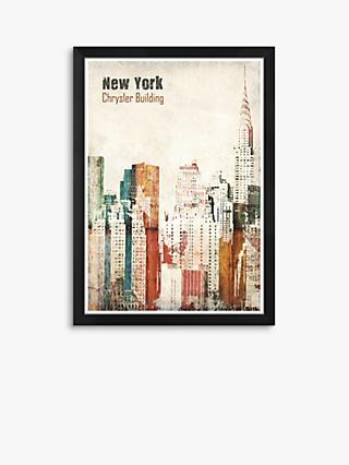 Chrysler Building - New York Framed Print, 38 x 27cm, Multi