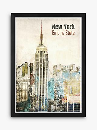 Empire State Building - New York Framed Print, 38 x 27cm, Multi