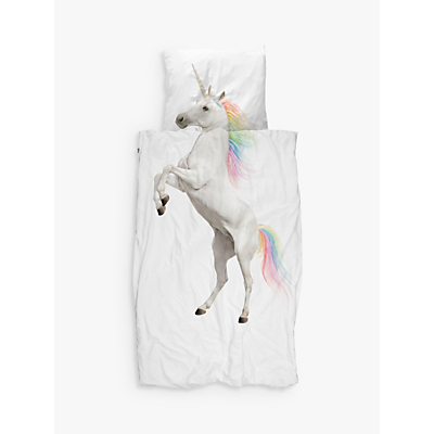 Snurk Unicorn Duvet Cover and Pillowcase Set, Single, Multi