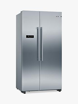 Bosch Serie 4 KAN93VIFPG American-Style Fridge Freezer, A++ Energy Rating, Stainless Steel