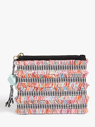 John Lewis & Partners Geometric Fringe Purse