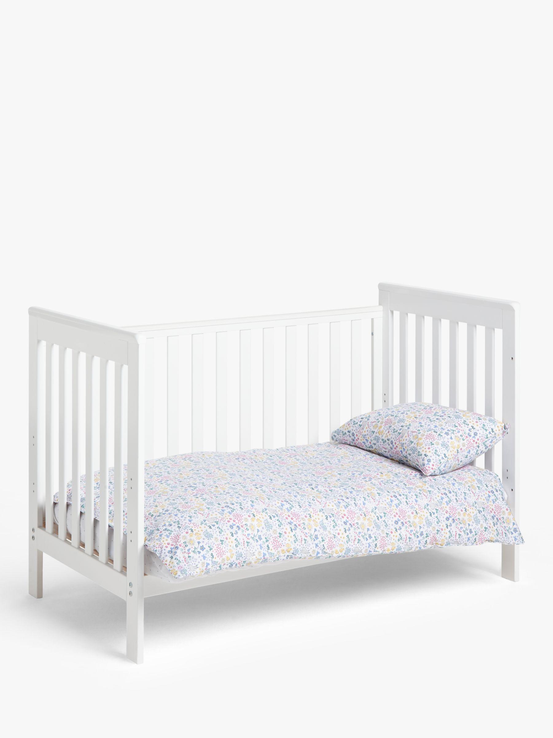 Beautiful pink grey bunny nursery cot bed bumper wrap duvet pillowcase set