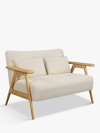 Hendricks Range, John Lewis & Partners Hendricks Loveseat, Light Wood Frame