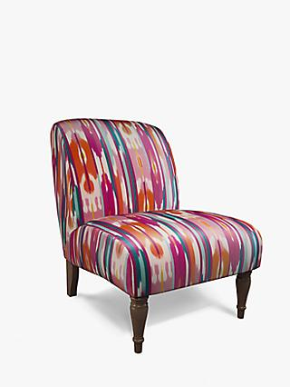 John Lewis & Partners Lounge Chair, Dark Leg, Ampana Print