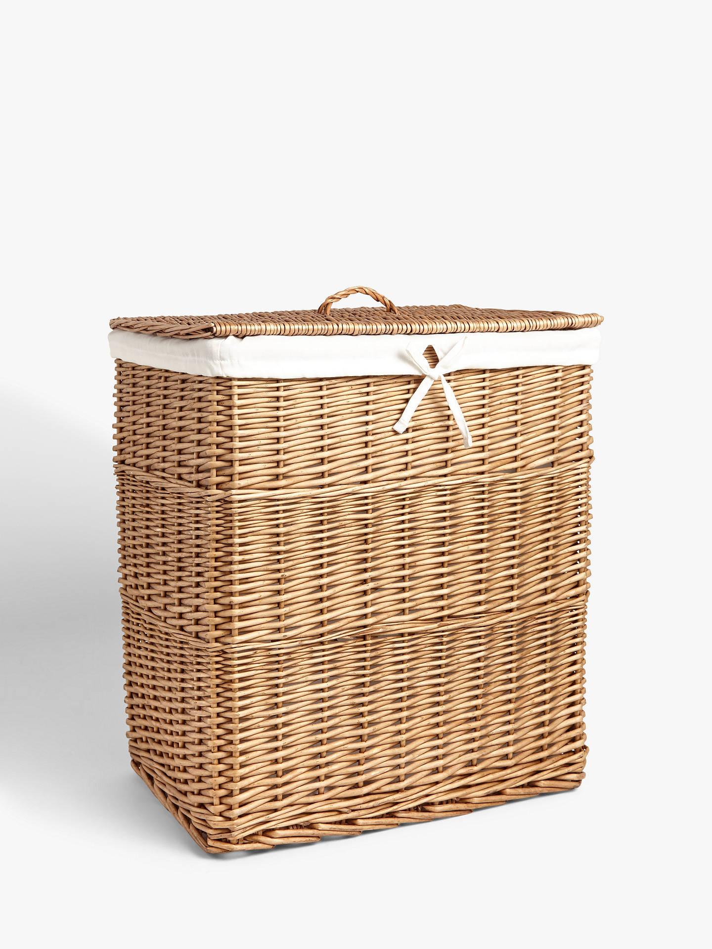 John Lewis Partners Willow Double Laundry Basket At John Lewis Partners