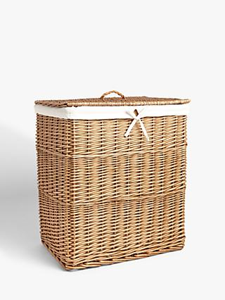 John Lewis & Partners Willow Double Laundry Basket