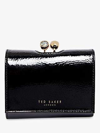 Ted Baker Emeey Flap Leather Purse, Black