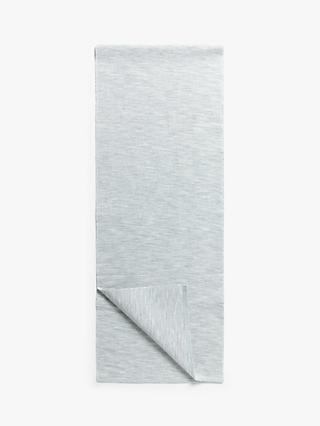 LEON Woven Cotton Table Runner, Cool Grey, L180cm