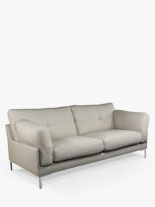 John Lewis & Partners Java II Medium 2 Seater Sofa, Metal Leg, Fleckerl Grey