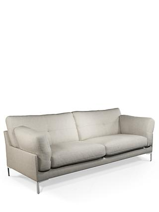 John Lewis & Partners Java II Large 3 Seater Sofa, Metal Leg, Fleckerl Grey
