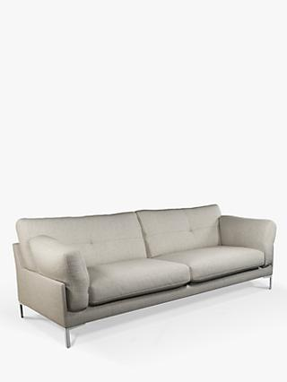 John Lewis & Partners Java II Grand 4 Seater Sofa, Metal Leg, Fleckerl Grey