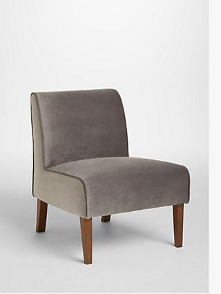John Lewis & Partners Piper Armchair, Light Leg, Silver