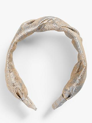 John Lewis & Partners Gold Knotted Hairband
