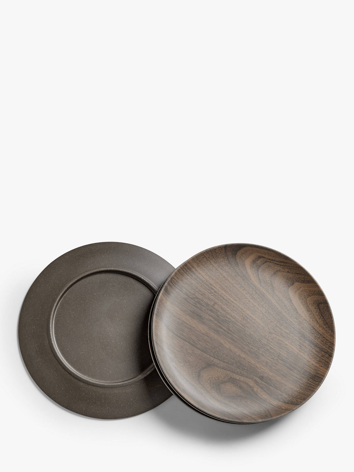 Buy John Lewis & Partners Bamboo Wood-Effect Side Plates, Set of 4, 20cm, Natural Online at johnlewis.com