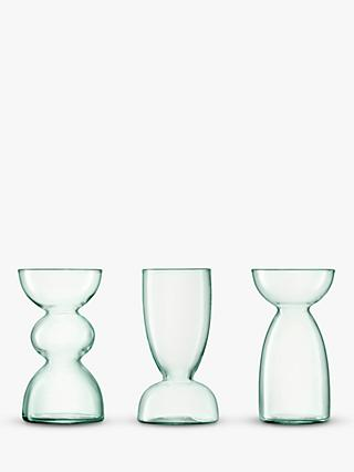 LSA International Canopy Trio of Recycled Glass Vases, Set of 3, Clear