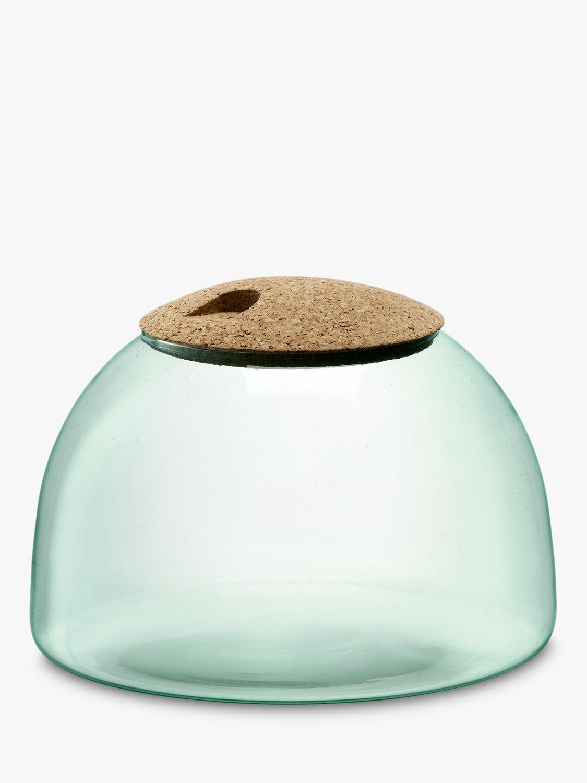 LSA International LSA International Canopy Recycled Glass Terrarium with Cork Lid
