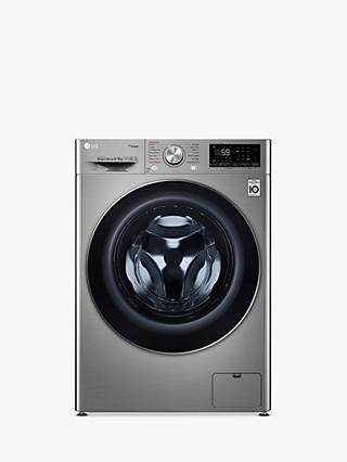 LG V700 FWV796STS Freestanding Washer Dryer, 9kg Wash/6kg Dry Load, A Energy Rating, Graphite