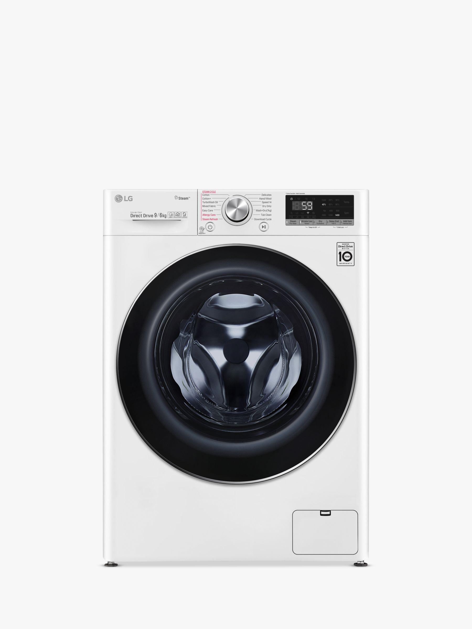 LG LG V700 FWV796WTS Washer Dryer, 9kg Wash/6kg Dry Load, A Energy Rating, White