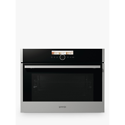 Gorenje BCM598S18X 50L Built-In Combination Microwave Oven with Grill, Black