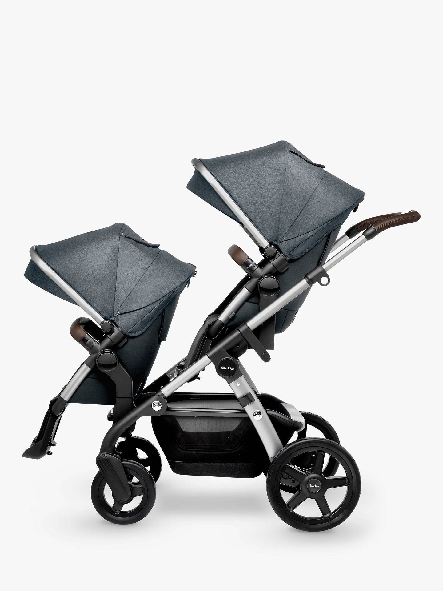 Silver Cross Wave Tandem Seat Unit, Slate at John Lewis & Partners