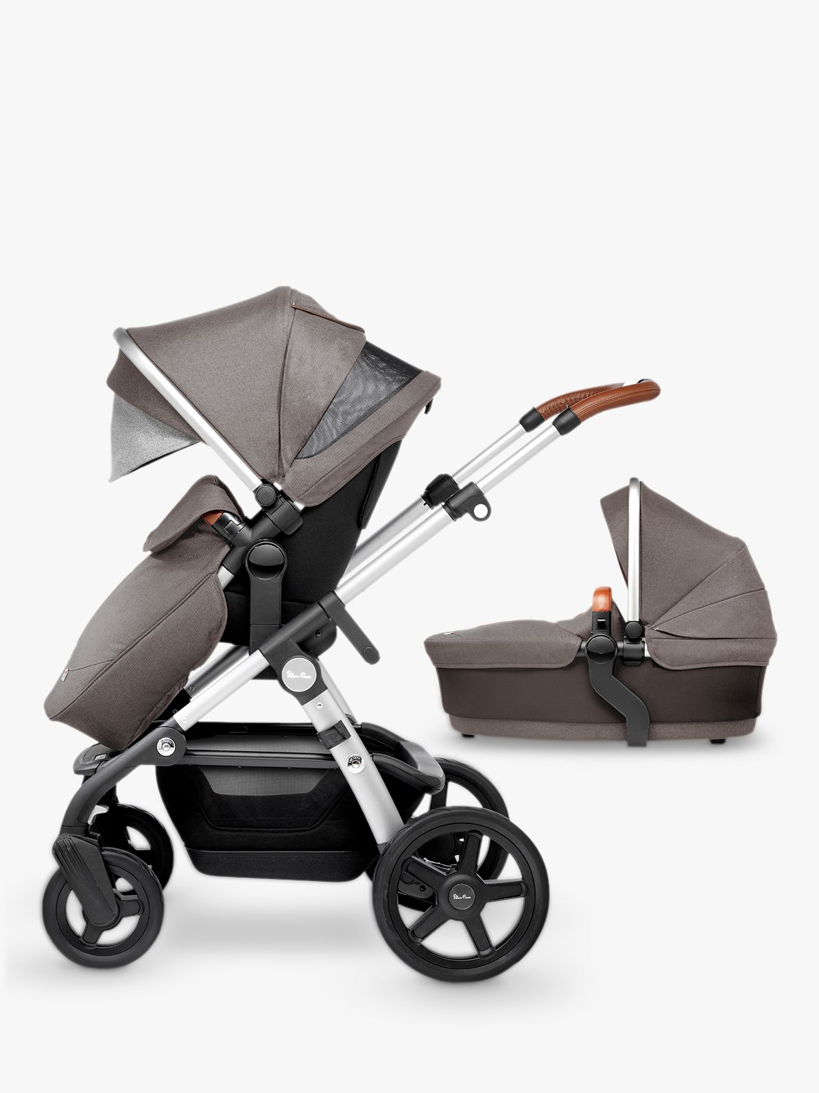 Silver Cross Silver Cross Wave Pushchair and Carrycot, Sable