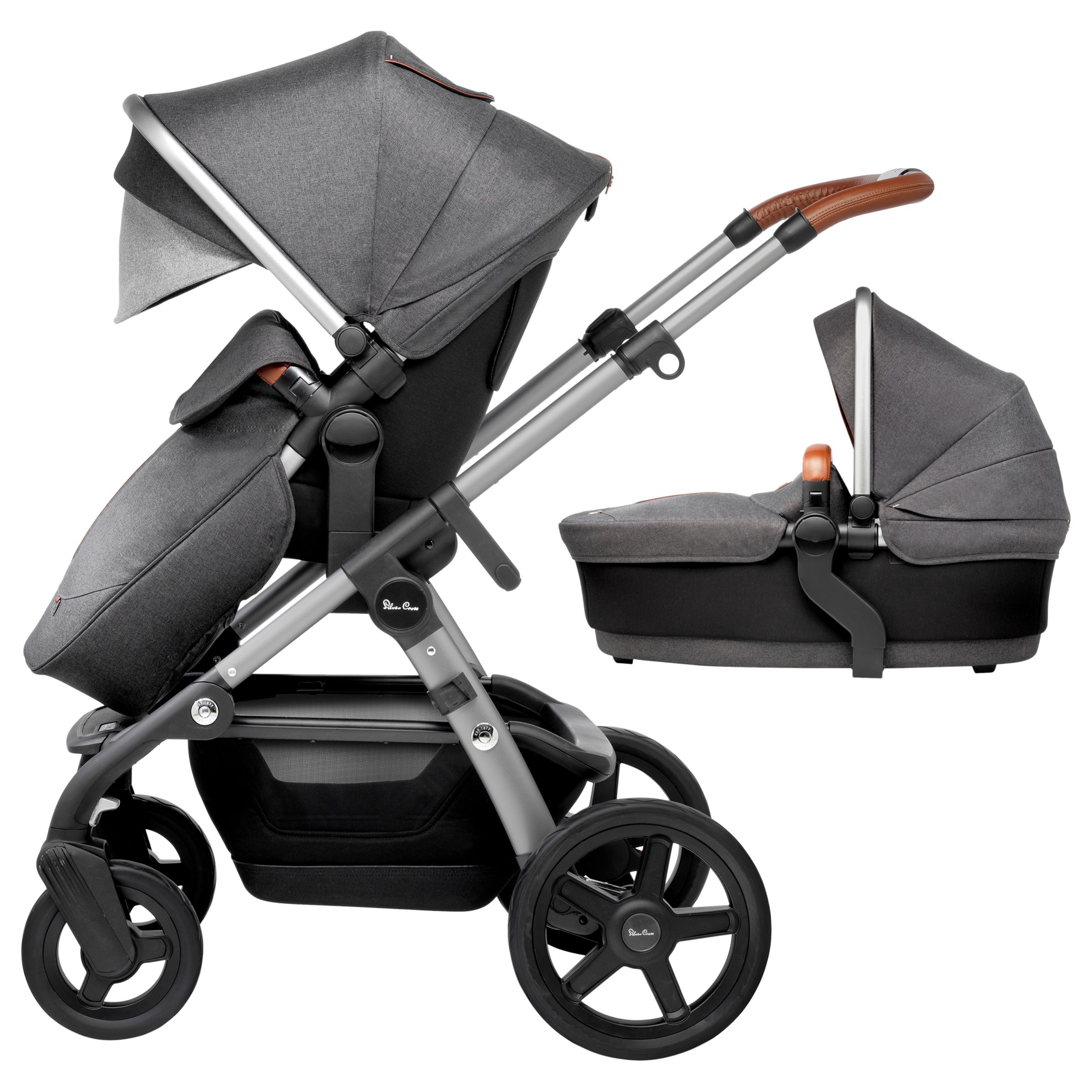 Silver Cross Silver Cross Wave Pushchair and Carrycot, Granite