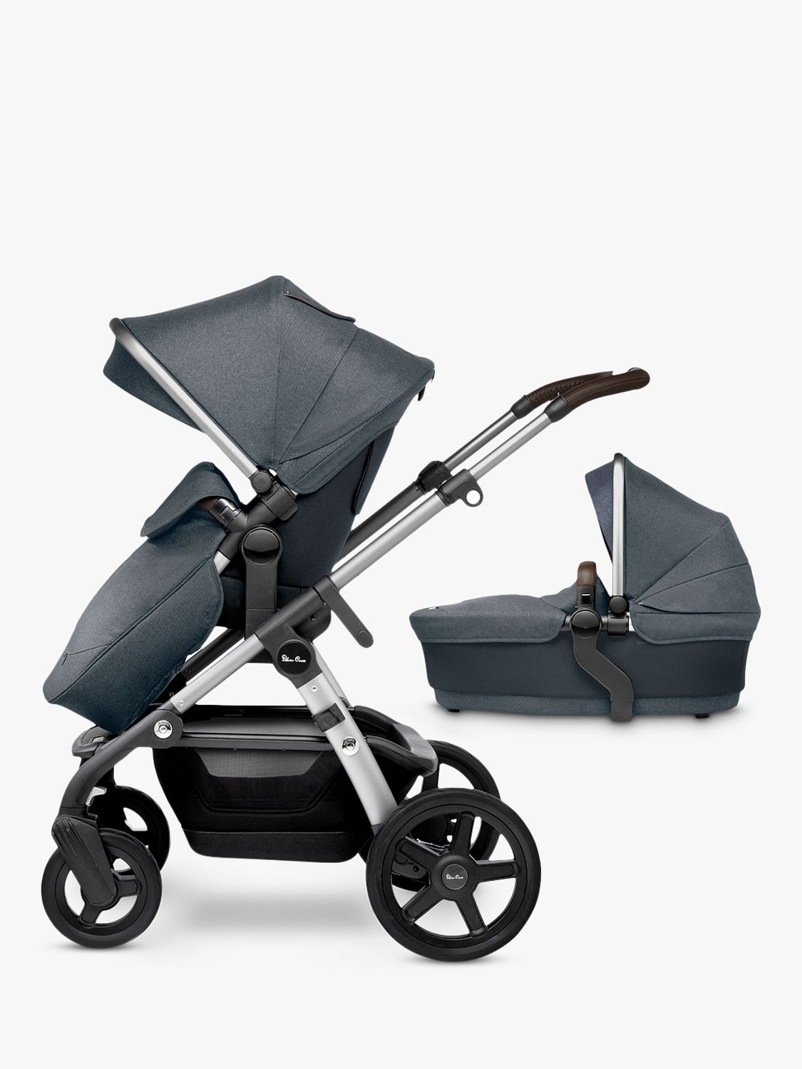Silver Cross Silver Cross Wave Pushchair and Carrycot, Slate