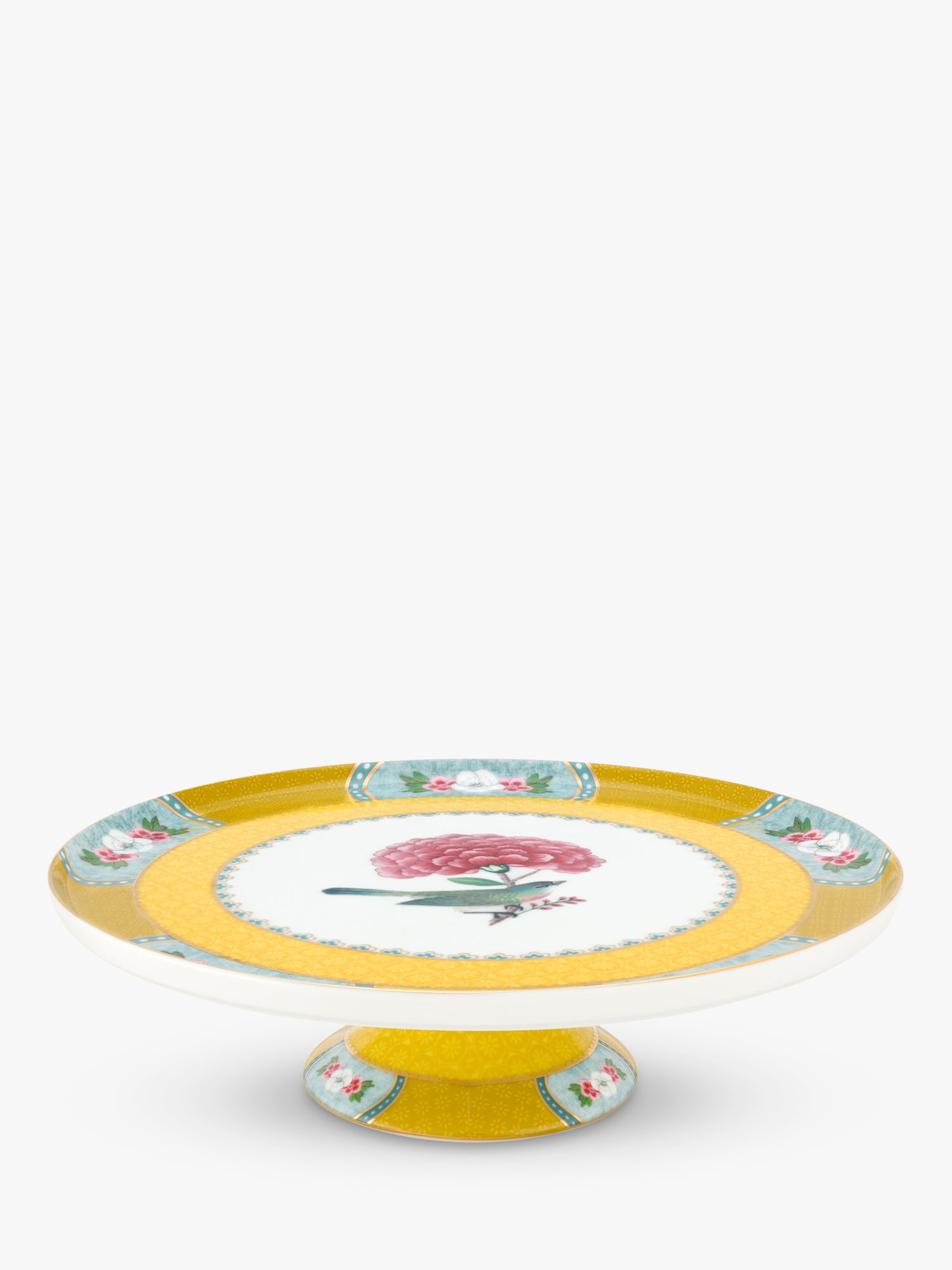 PiP Studio PiP Studio Blushing Birds Mini Cake Stand, 21cm, Yellow/Multi