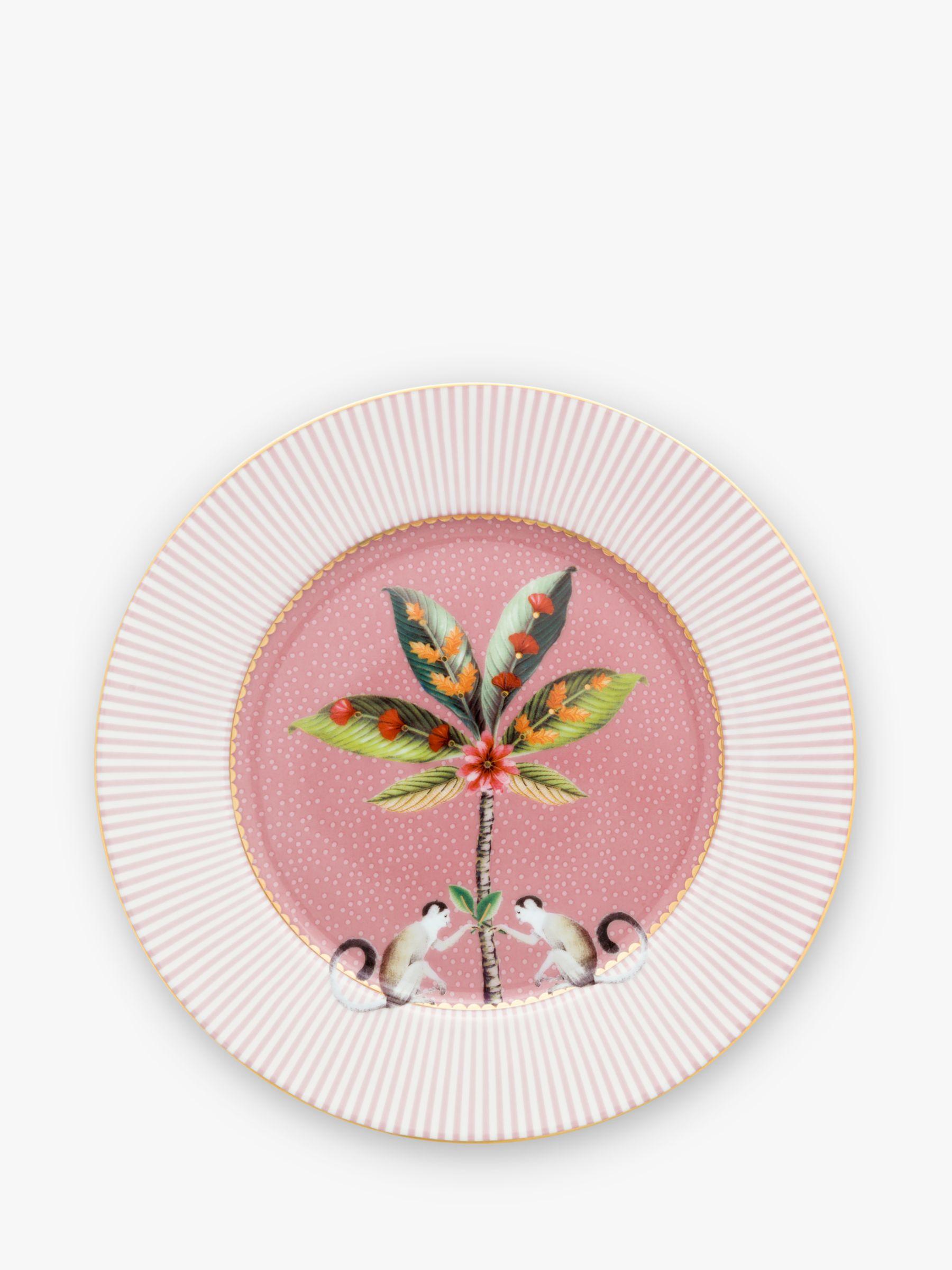 PiP Studio PiP Studio La Majorelle Tea Plate, 17cm, Pink/Multi