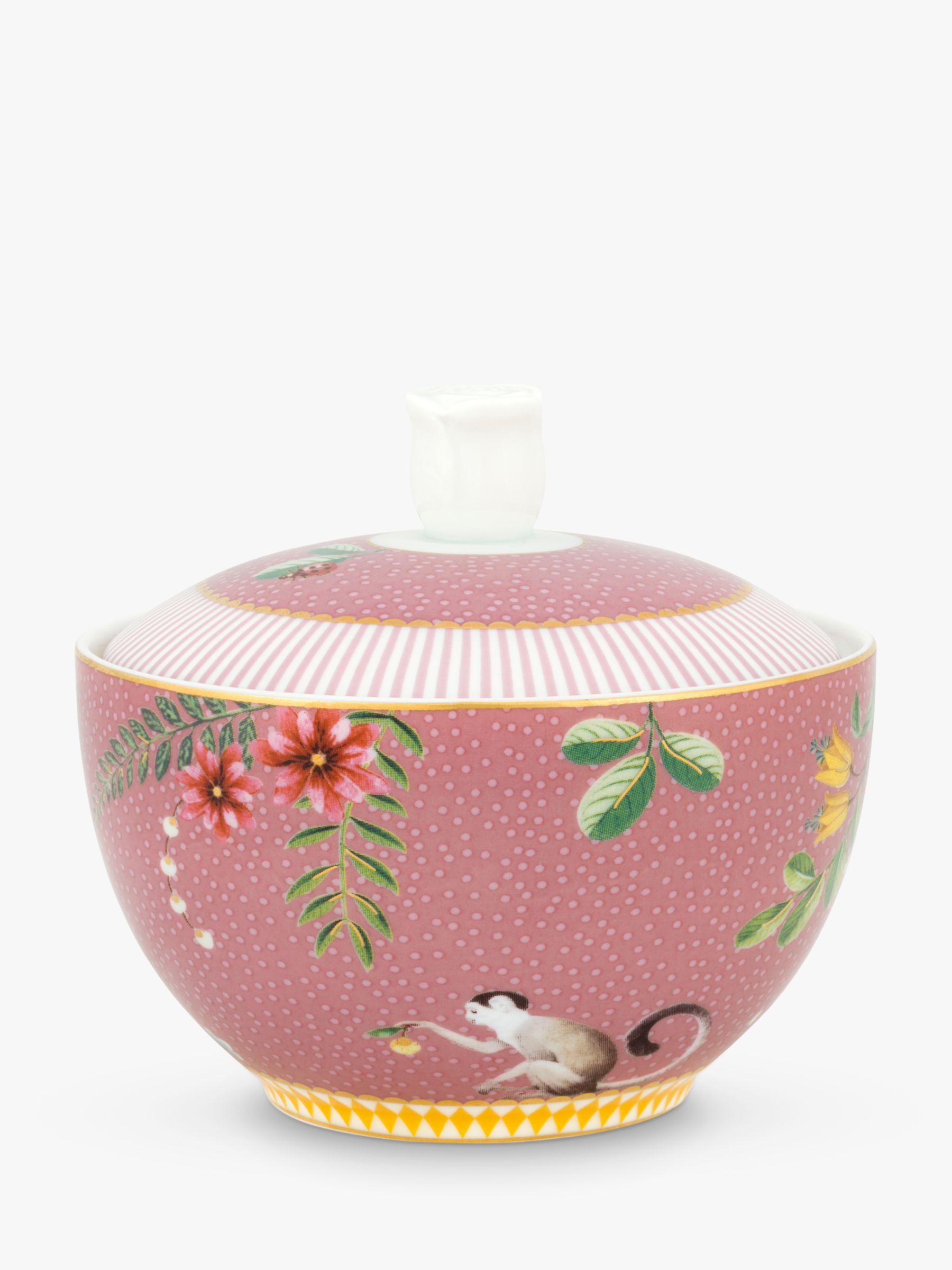 PiP Studio PiP Studio La Majorelle Sugar Bowl & Lid, 300ml, Pink
