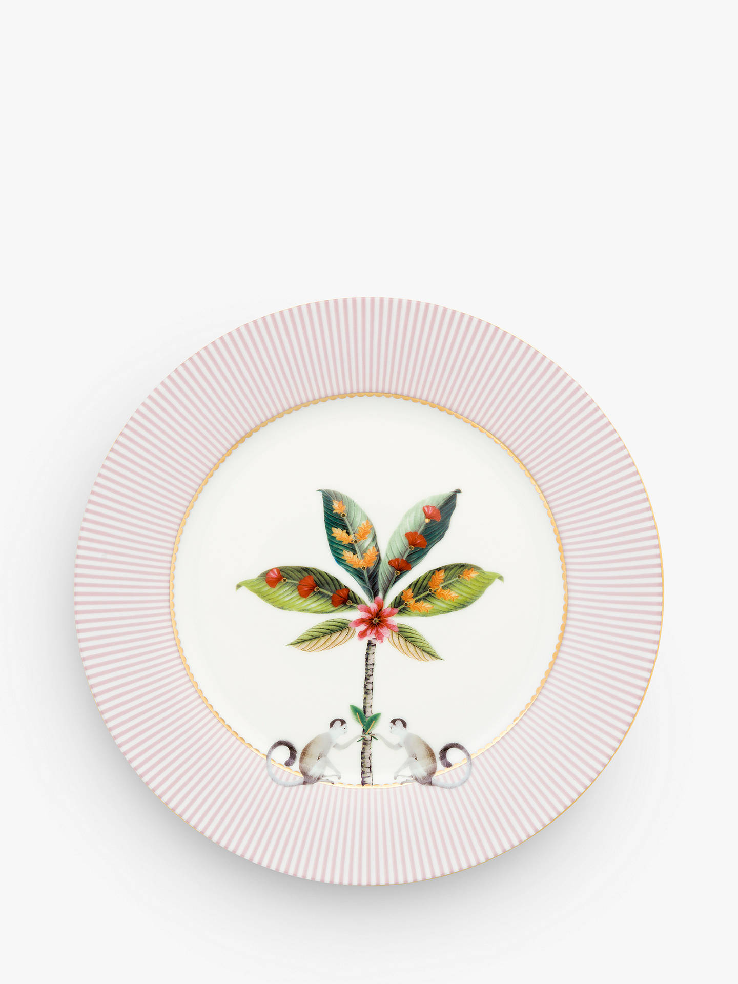 Buy Pip Studio La Majorelle Side Plate, 21cm, Pink/Multi Online at johnlewis.com