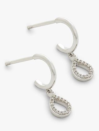 Modern Rarity Diamond Teardrop Huggie Hoop Earrings