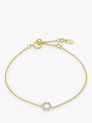 Modern Rarity Hexagon Diamond Chain Bracelet