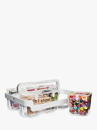 Deflecto Storage Caddy and Canisters