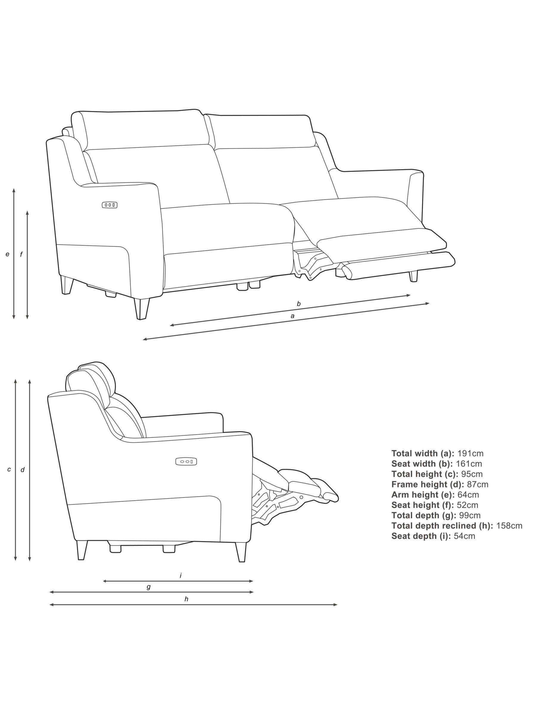 John Lewis & Partners Elevate Large 2 Seater Power Recliner Sofa