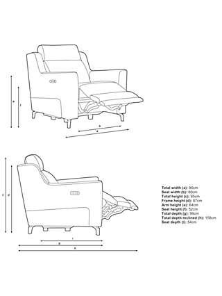 John Lewis & Partners Elevate Power Recliner Armchair, Metal Leg