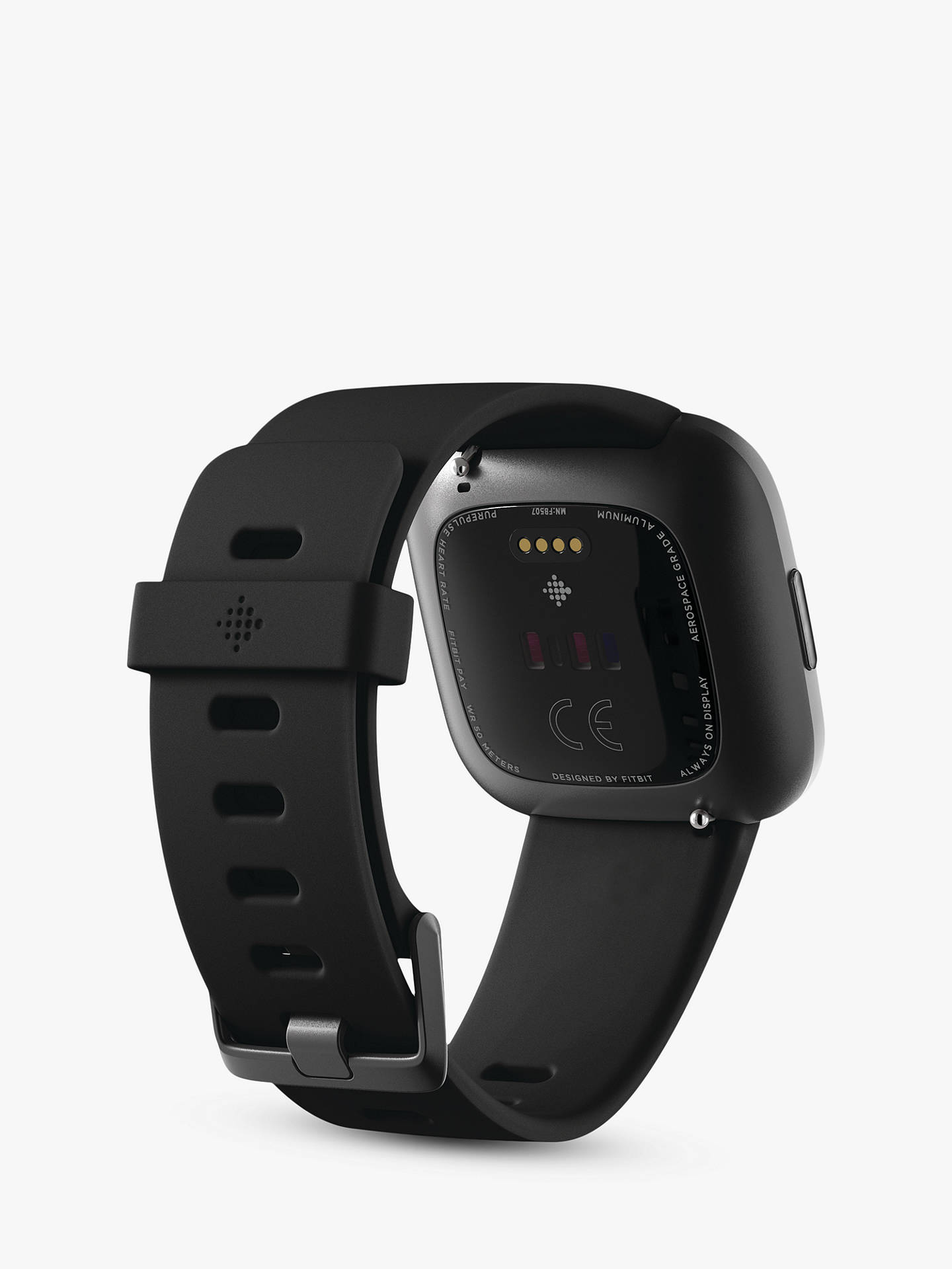 Buy Fitbit Versa 2 Smart Fitness Watch, Black/Carbon Online at johnlewis.com