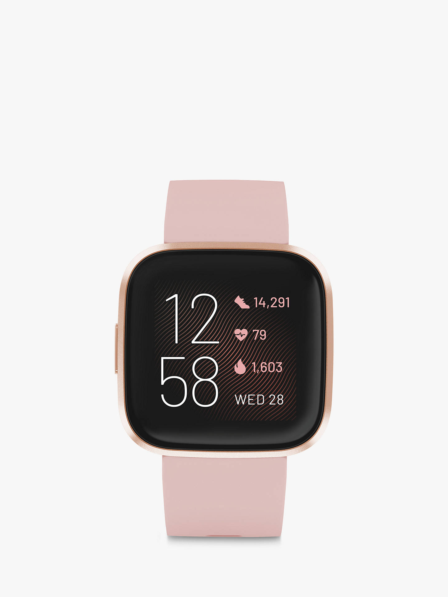 Buy Fitbit Versa 2 Smart Fitness Watch, Petal/Copper Rose Online at johnlewis.com