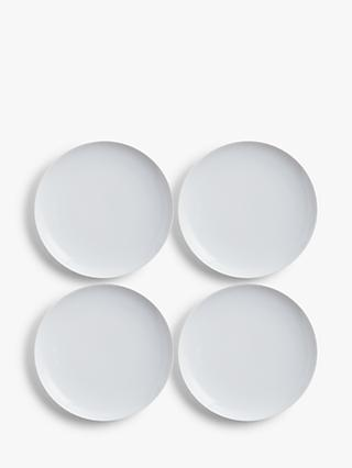 House by John Lewis Eat 22cm Coupe Side Plates, Set of 4, White
