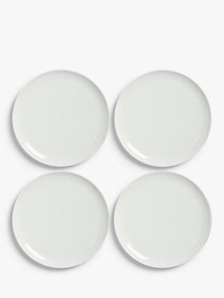 House by John Lewis Eat 28cm Coupe Dinner Plates, Set of 4, White