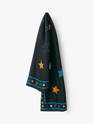 hush Agi Pure Silk Star Scarf, Navy/Multi