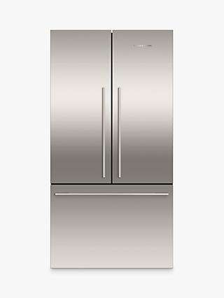Fisher & Paykel RF610ADJX5 American Style Freestanding 3-Door 70/30 Fridge Freezer, Stainless Steel