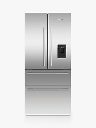 Fisher & Paykel RF523GDUX1 American Style Freestanding 65/35 Fridge Freezer, 79cm Wide, A+ Energy Rating, Stainless Steel