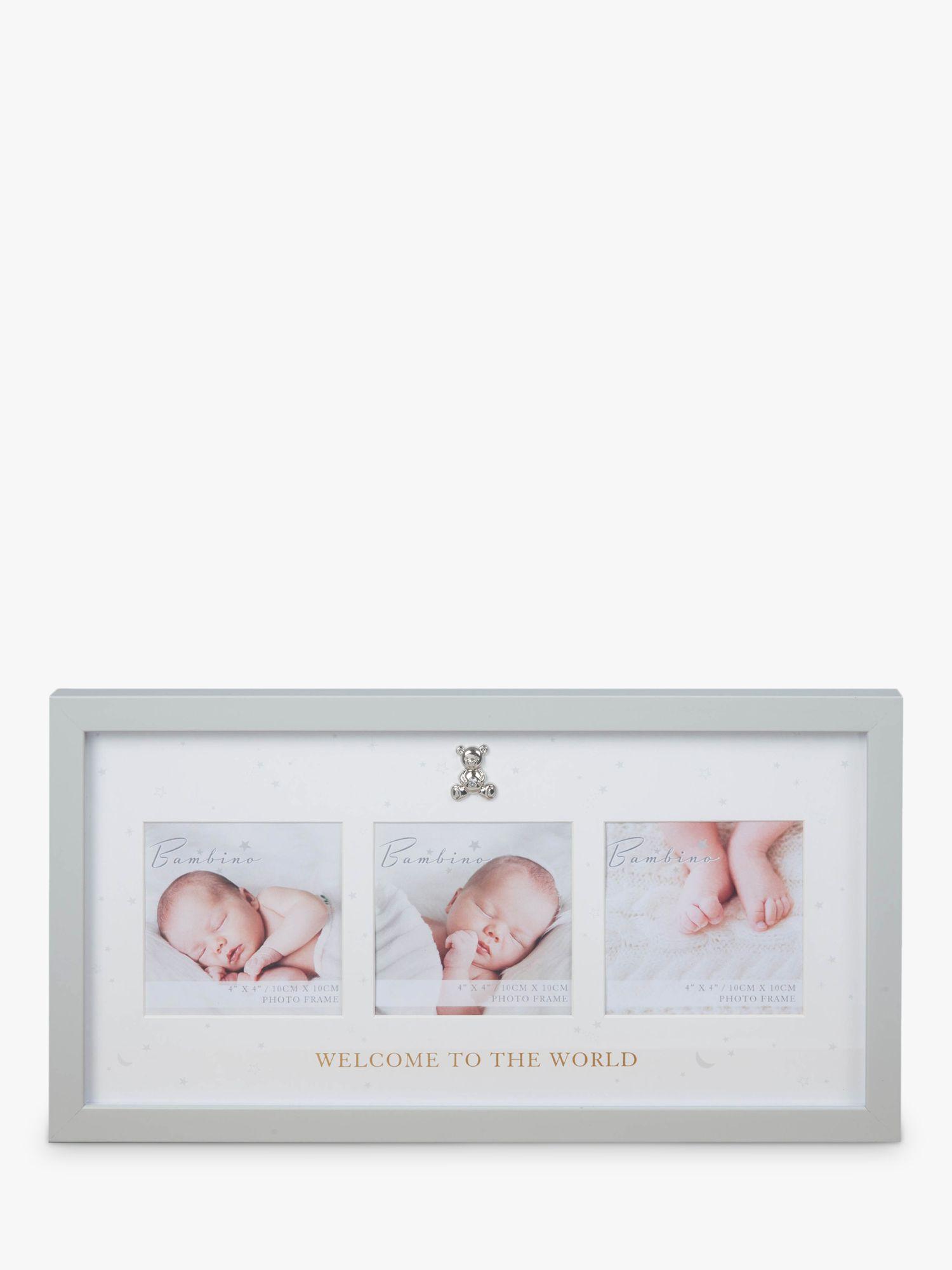Bambino Bambino Baby Welcome Photo Frame, Grey Stars